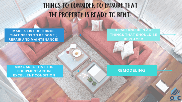 things to ensure that property is ready to rent