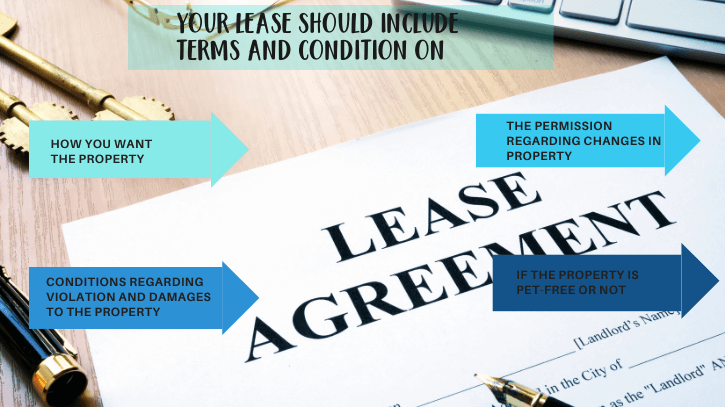 terms and condition that a lease should include
