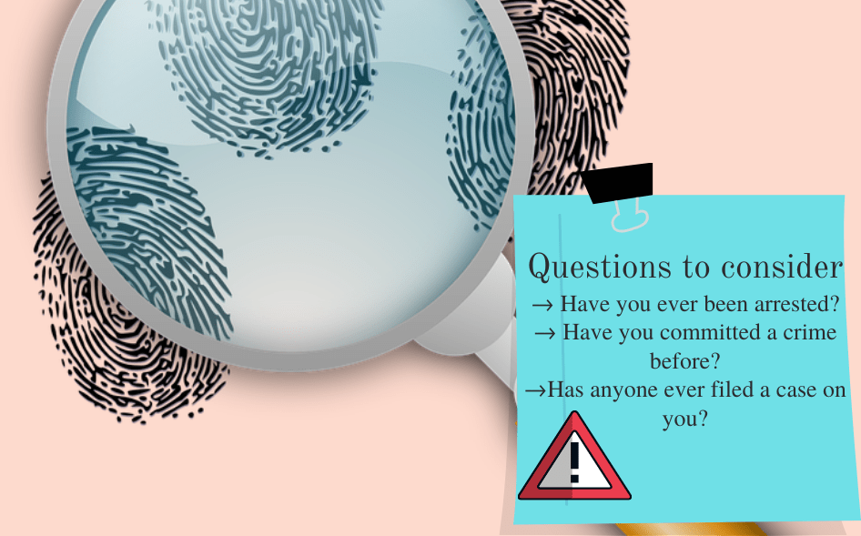 questions to consider during criminal records