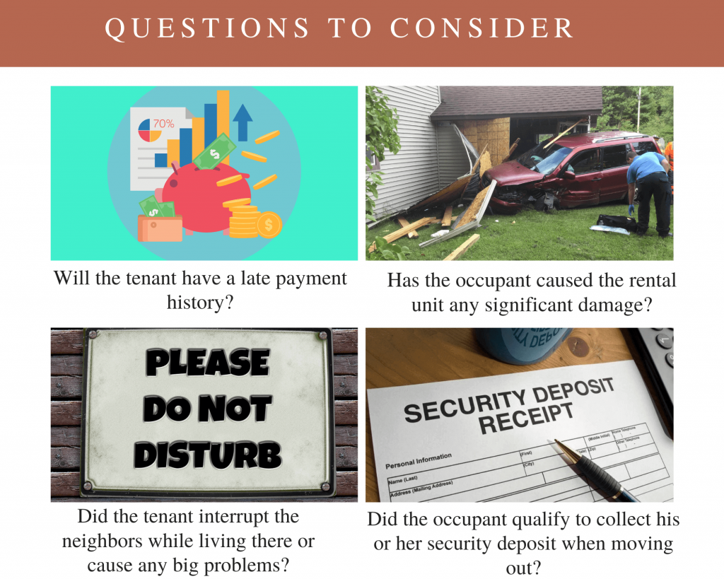 questions to consider during the landlord reference