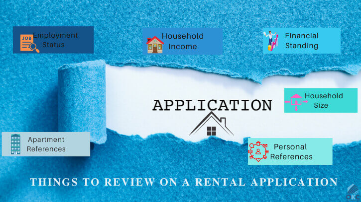 Things to review on a rental application
