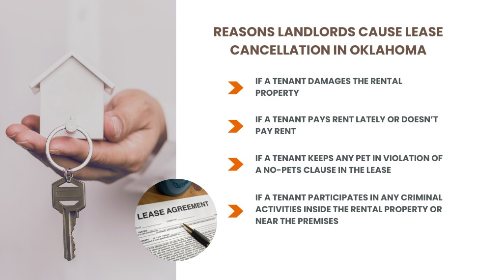 reasons landlords causes early lease termination