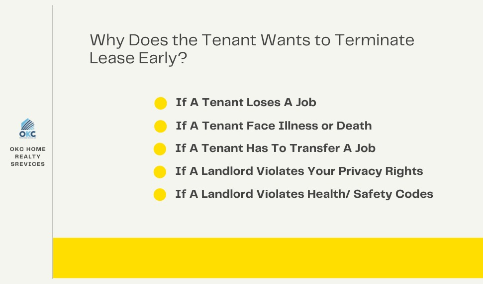 Why Does the Tenant Wants to Terminate Lease Early