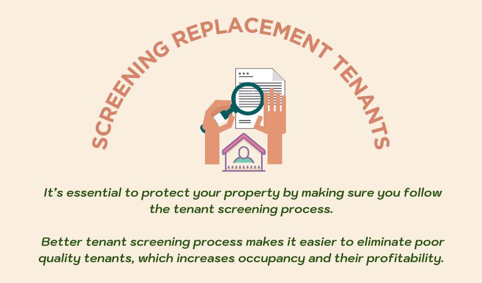 Screening replacing tenants